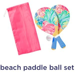 Lilly Pulitzer Beach Paddle Ball Set